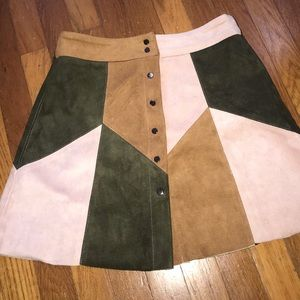 RAGA Corduroy Button Skirt